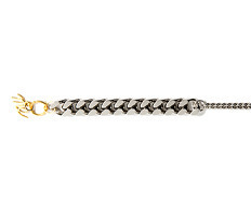 Usual Bold Chain & Thin Chain Bracelet