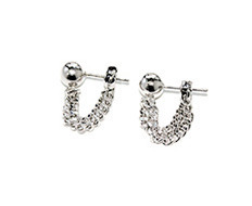 Usual Silver Chain Earrings