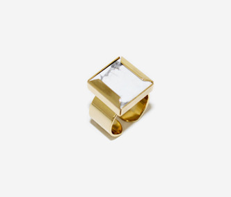 Marble Square Ring