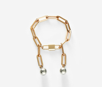 Drop and Rose Gold Chain Bracelet
