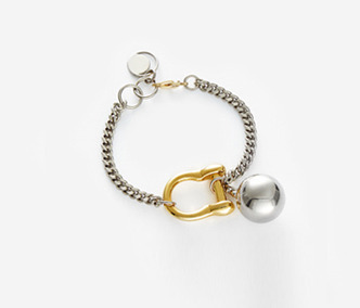 Bold Drop and Link Bracelet