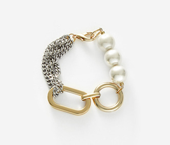 [Monday Edition] Big Shape Bold Chain and Pearl Bracelet (60%off)