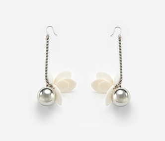 Shell Flower with Drop Earrings