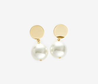 [고준희 착용] Drop Bold Earrings - PEARL