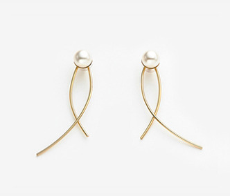 Big Pearl Wire Earrings