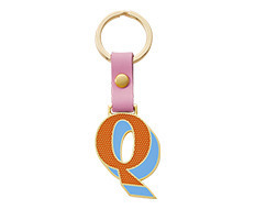 Stickery Initial Key Ring Q