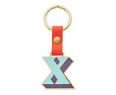 Stickery Initial Key Ring X