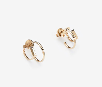 [PRECIOUS] Baguette Stud Double Earrings Ver. 1