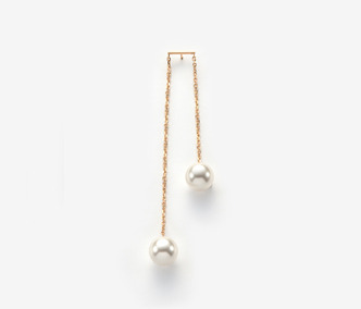 Two Pearls Single Earring