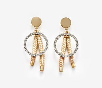 Rope And Crystal Earrings