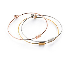 usual square initial thin bangle (3 colors) 먼데이에디션 유주얼엠이