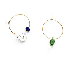 grape with drop M.E pendant earrings (2 colors)