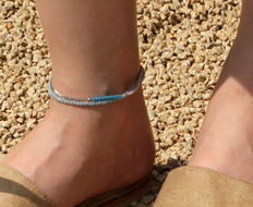 [발찌] beads and chain anklet (5 colors)