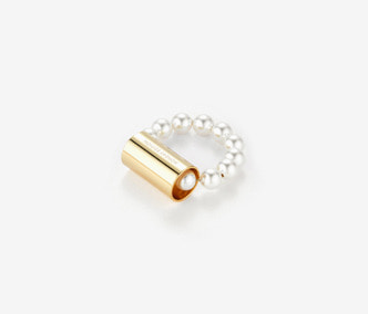 Pipe and Pearl Ring