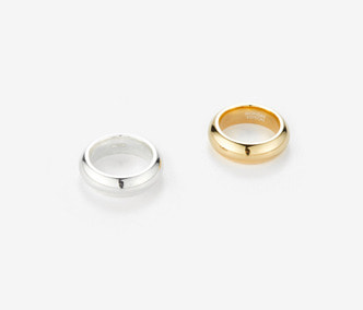 Bold Twin Silver Rings (2 rings-1 set)