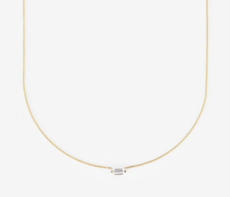 Baguette Stud Cubic Necklace
