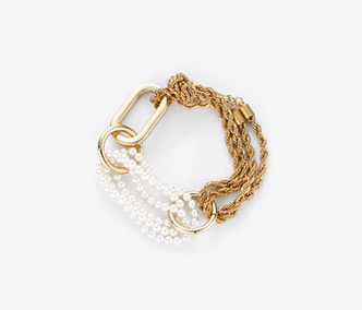 [Monday Edition] Big Shape Rope Chain and pearl Bracelet