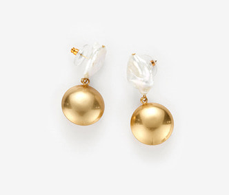 Moon Drop Pearl Earrings