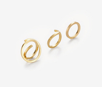 Square Wire Ring Set