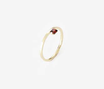 Birthstone Ring Ganet - January