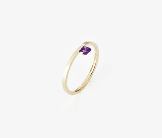 Birthstone Ring Amethyst - February