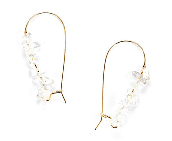 [usual ME] clear quartz earring (15%off)
