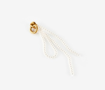 Pearl Knot Zipper Single Earring