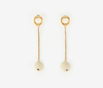 [Monday Edition] Ceramic Ball Drop Earrings (20%off)