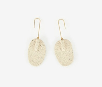 [Monday Edition] Ceramic Paddle Earrings
