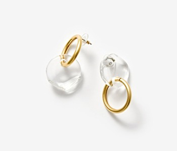 [Monday Edition] Semicircle and Ring Earrings (15%off)