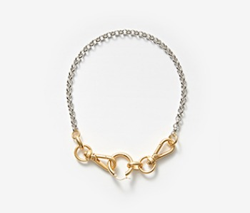 [Monday Edition] Linked Chunky Hoop Necklace