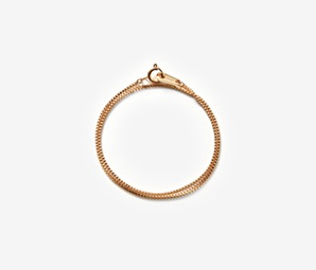 [MEdMAN] golden thin chain blacelet (10%off)