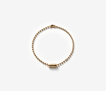 [MEdMAN] golden simple ball chain bracelet (10%off)