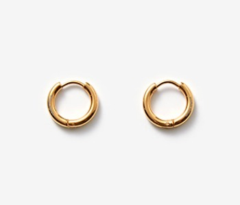 [MEdMAN] simple circle piercings - gold (10%off)