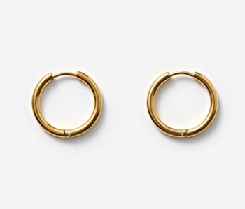 [MEdMAN] simple big circle piercings - gold (10%off)