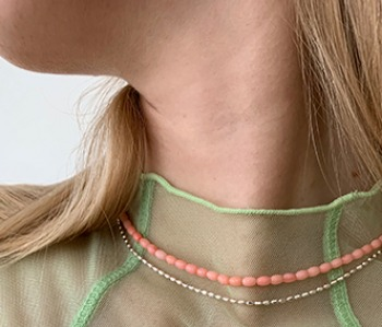 [usual ME] Corallites Choker - baby pink (15%off)