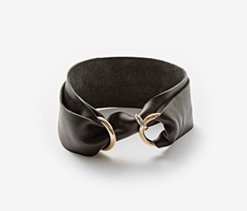 Black Ring Lock Choker