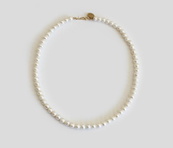 The Basic Pearl Becklace  6mm (15% off)