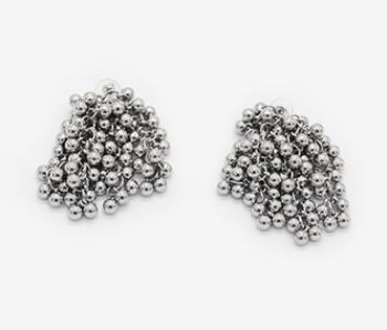 Tiny Ball Bundle Chain Earrings