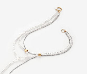 [Monday Edition] Thin Chain and Pearl Drop necklace (20%off)