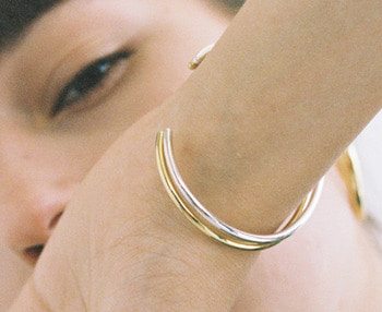 [usual ME] simple silver bangle (15%off)