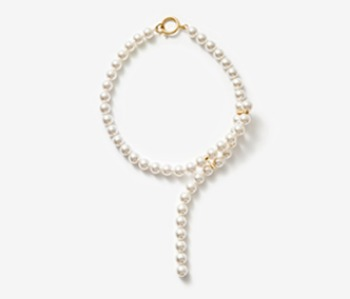 [Monday Edition] Cross-ended Pearl Necklace (10%off)