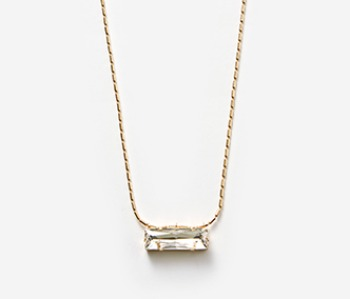 Crystal Cup Long Necklace (10% off)